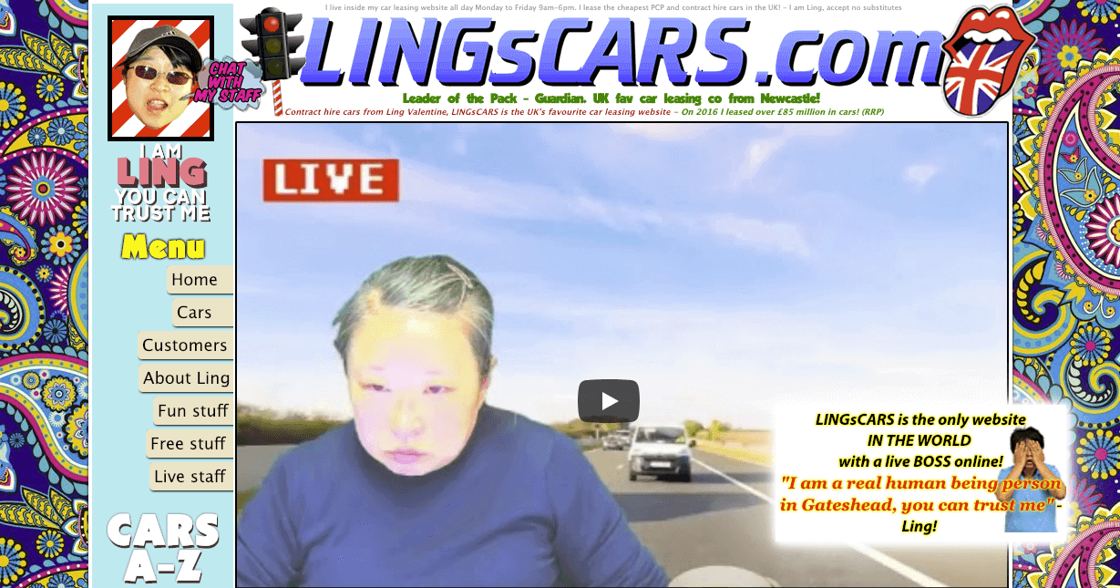 LINGsCARS website